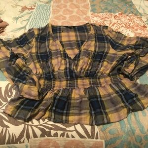 Flannel light weight top